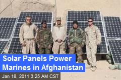 Solar Panels Powering Marines in Afghanistan