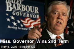 Miss. Governor Wins 2nd Term