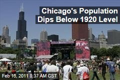 Chicago's Population Falls Below 1920 Levels: 2010 Census