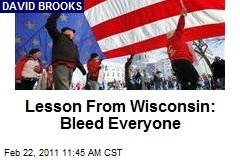 Lesson From Wisconsin: Bleed Everyone