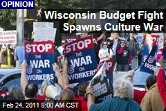 David Brooks and Gail Collins: Budget Fight Spawns Culture War in Wisconsin