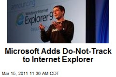 Microsoft Adds Do-Not-Track to Internet Explorer