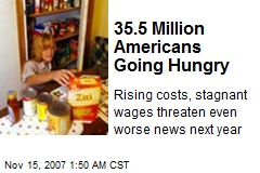35.5 Million Americans Going Hungry