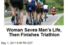 Woman Saves Man's Life, Then Finishes Triathlon