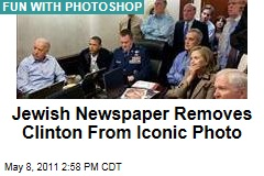 Hillary Clinton Removed From Iconic White House Situation Room Photo in Hasidic Jewish Newspaper