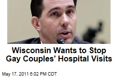 Wisconsin Governor Scott Walker Wants to End Hospital Visitation Rights of Gay Couples