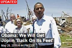 President Obama Tours Tornado-Ravaged Joplin, Missouri