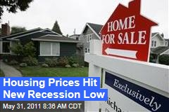 Housing Prices Drop 4.2% in First Quarter to Reach New Low in Recession