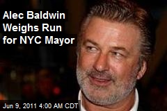 Alec Baldwin Weighs Run for NYC Mayor