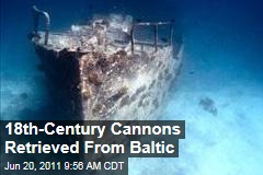 Cannons Baltic Sea Shipwreck: Three 18th-Century Cannons Recovered from Sunken Ship