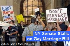 NY Senate Stalls on Gay Marriage Bill
