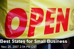 Best States for Small Business