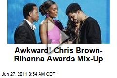Chris Brown-Rihanna Award Mix-Up Creates Awkwardness at BET Awards Show