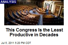 This Congress the Least Productive in Decades