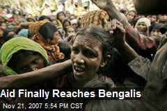 Aid Finally Reaches Bengalis
