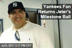 Yankees Fan Christian Lopez Returns Derek Jeter's Milestone Baseball