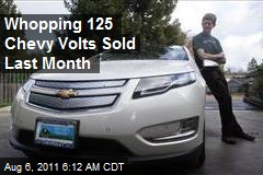 Whopping 125 Chevy Volts Sold Last Month