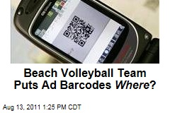 British Volleyball Players Put QR Codes on Their Bikini Bottoms