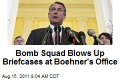 Bomb Squad Blows Up Briefcases at Boehner's Office