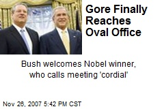 Gore Finally Reaches Oval Office