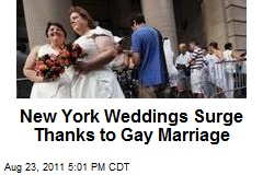 New York Weddings Surge Thanks to Gay Marriage