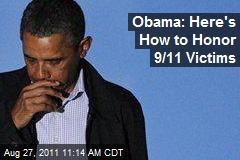Obama: Here's How to Honor 9/11 Victims