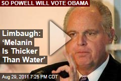 Rush Limbaugh: 'Melanin Is Thicker Than Water,' and Colin Powell Will Vote for President Obama