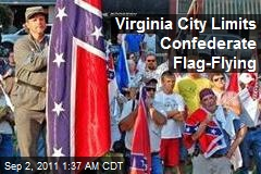 Virginia City Limits Confederate Flag-Flying