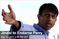 Bobby Jindal to Endorse Rick Perry for President