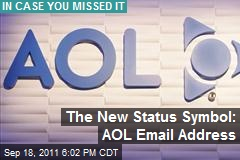 The New Status Symbol: AOL Email Address