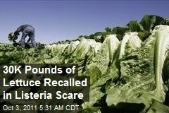 30,000 Pounds of Lettuce Recalled in Listeria Scare