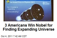 3 Americans Win Nobel for Finding Expanding Universe