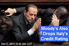 Moody's Also Drops Italy's Credit Rating