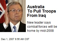 Australia To Pull Troops From Iraq