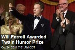 Will Ferrell Wins Mark Twain Prize