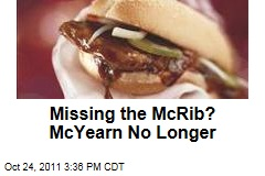 McDonald's Selling McRib Sandwich Nationwide Until November 14