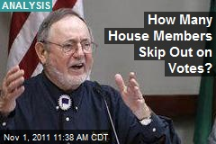 How Many House Members Skip Out on Votes?
