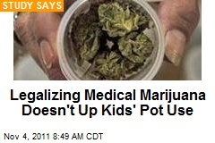 Legalizing Medical Marijuana Doesn't Up Kids' Pot Use