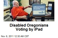Disabled Oregonians Voting by iPad