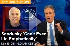 Jon Stewart on Jerry Sandusky's Interview With Bob Costas: You Can't Even Lie Emphatically