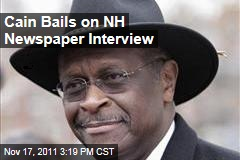 Herman Cain Bails on Interview With Biggest Newspaper in New Hampshire