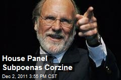 House Panel Subpoenas Corzine