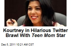 Kourtney Kardashian, 'Teen Mom' Star Farrah Abraham in Hilarious Twitter Tiff