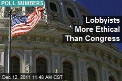 Lobbyists More Ethical Than Congress
