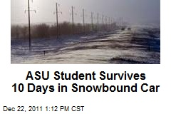 ASU Student Survives 10 Days in Snowbound Car