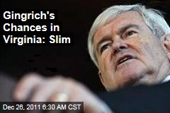 Newt Gingrich's Changes of Getting on Virginia Ballot: Slim
