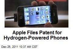 Apple Files Patent for Hydrogen-Powered Phones