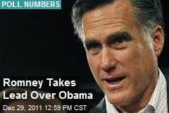 Romney Takes Lead Over Obama