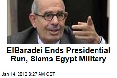 Mohamed ElBaradei Drops Out of Egypt's Presidential Race, Slams Slow Pace of Reforms