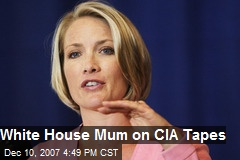 White House Mum on CIA Tapes